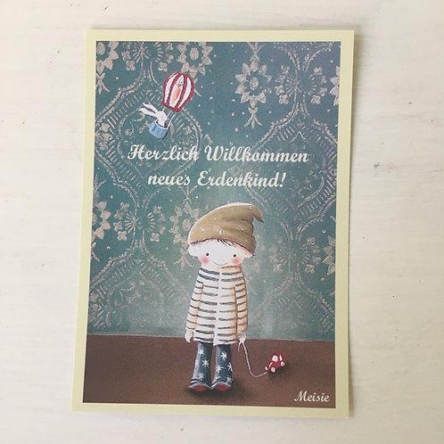 Postkarte Erdenkind