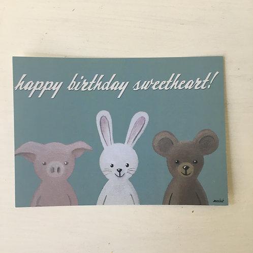 Postkarte Happy Birthday...