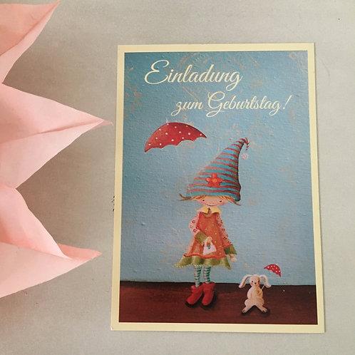 Postkarte Einladung Geburtstag