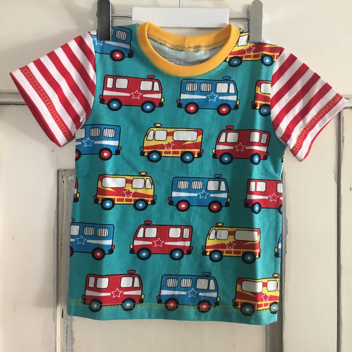 Shirt Feuerwehr gelb Gr. 86