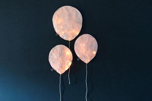 Lighting Balloon blush rose