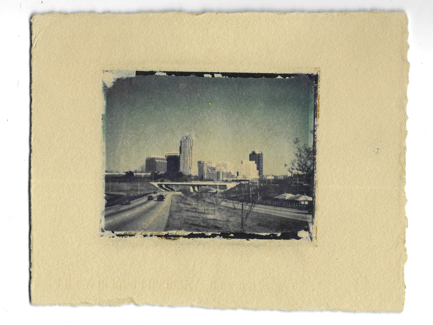 Raleigh Skyline Mid March 1998 - 4pm, Lori Langdon