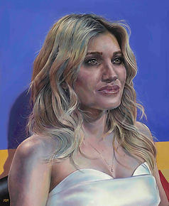 'Portrait of Ashley Roberts' - Oil on bo