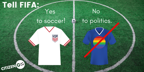 Sign the CitizenGO petition to FIFA now!