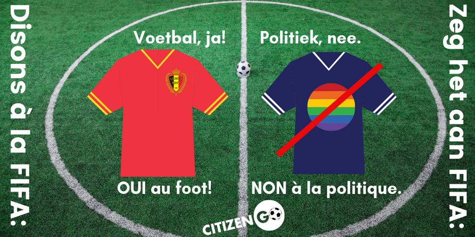 Signez cette pétition! Zeg het aan FIFA!