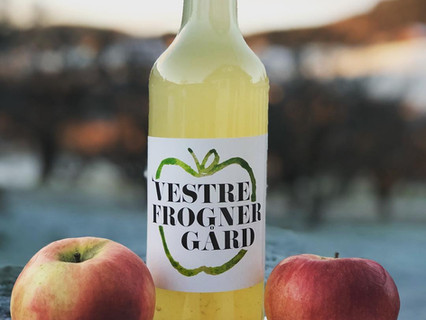 Vår egen produsert eplesaft