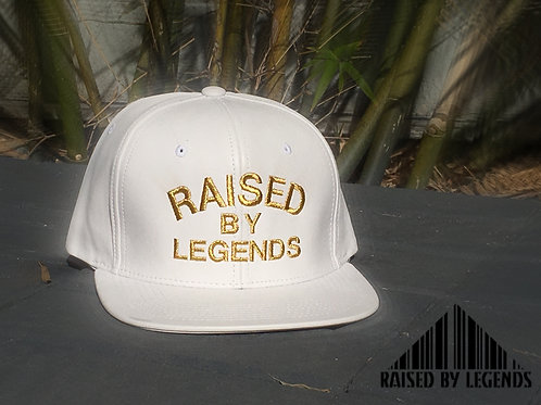 NEW WHITE LEATHER EDITION WHITE & GOLD SNAPBACK