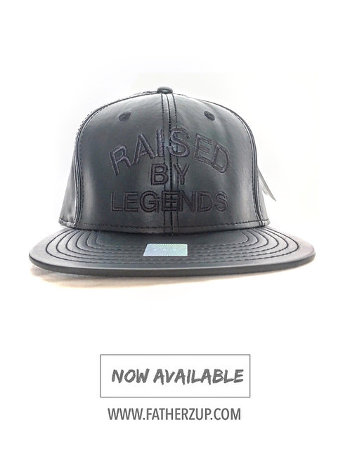 NEW BLACK LEATHER EDITION BLACK ON BLACK SNAPBACK!!!