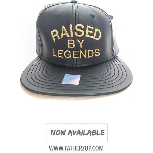 NEW!! LEATHER EDITION BLACK & GOLD SNAPBACK