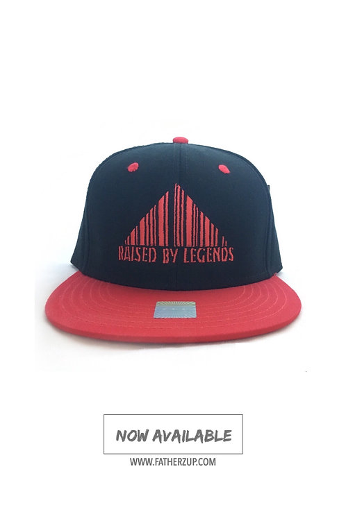 NEW!! BLACK AND RED RAISED BY LEGENDS SNAPBACK