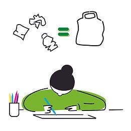 One Bag Zero Waste illustration by Loco Design