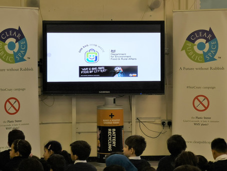 """Defra leads Westminster Primary School Pupils in a """"Reduce, Reuse, Recycle – One Bag, Zero Waste! """""""