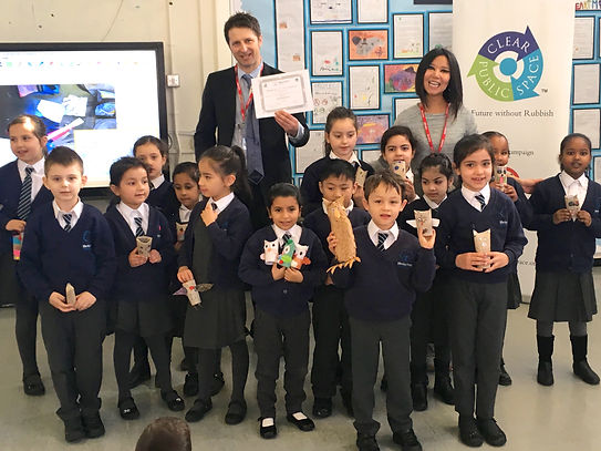 A Future without Rubbish at Queens Park Primary School turning trash into treasure