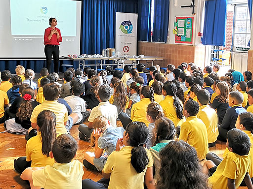 A Future without Rubbish visits Queens Park Primary School