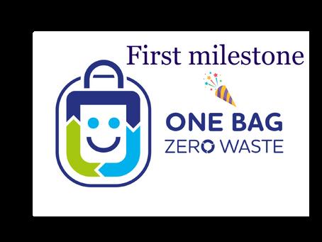 One Bag Zero Waste campaign reaches first milestone