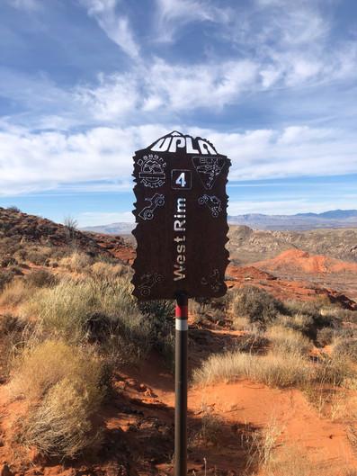 West Rim Trail Marker