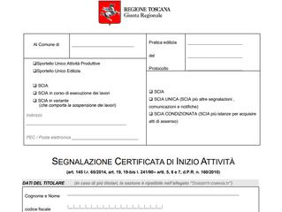 Modulistica Compilabile Edilizia Regione Toscana