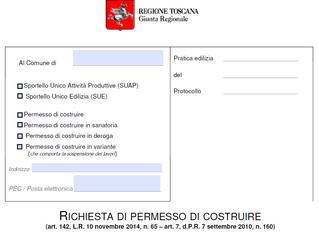 Modelli Permesso di Costruire e PDC Relazione Regione Toscana Compilabile