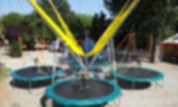 Skyjump trampoline 4 pistes
