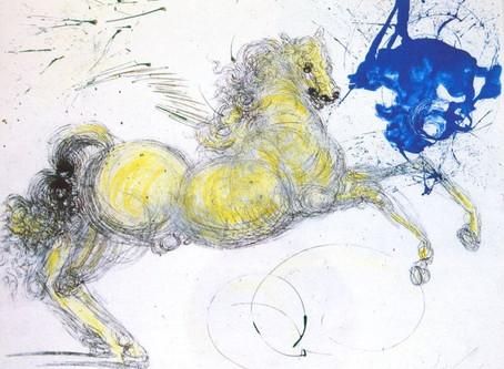 """Salvador Dalì - Prova d'autore in serigrafia: """"Pegaso"""", 1964"""