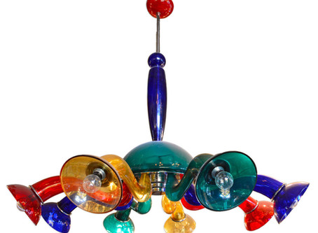 Orni Halloween Murano Glass Veart Chandelier - Modern Art Nouveau Chandeliers - Dering Hall