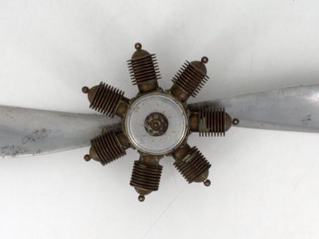 Avete mai visto un motore dei caccia della Prima Guerra Mondiale?