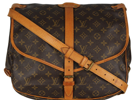 Louis Vuitton Borsa a tracolla Louis Vuitton Saumur 30 mod medio in tela monogram cerata e pelle.