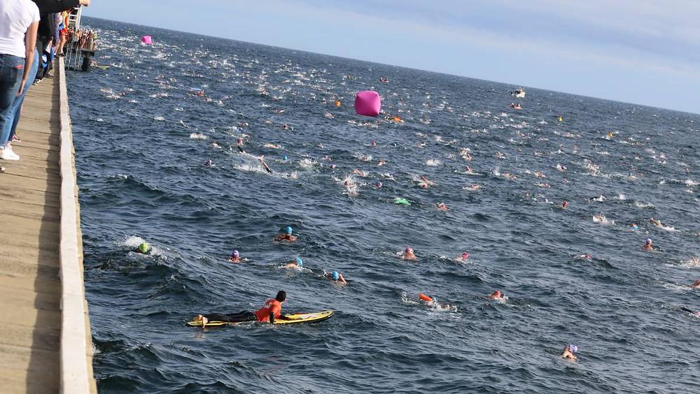Busselton Jetty Swim Rough Conditions