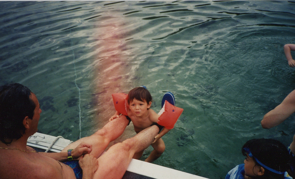 Young Andy Donaldson Swimming