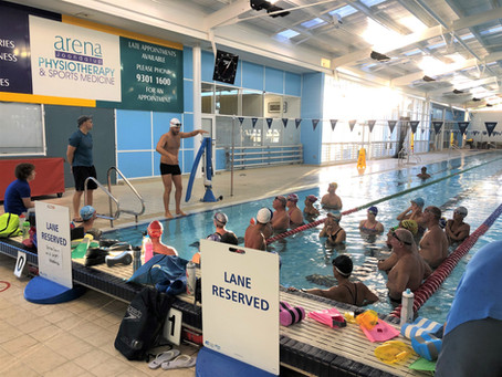 Our swimming clinic with the West Coast Masters!