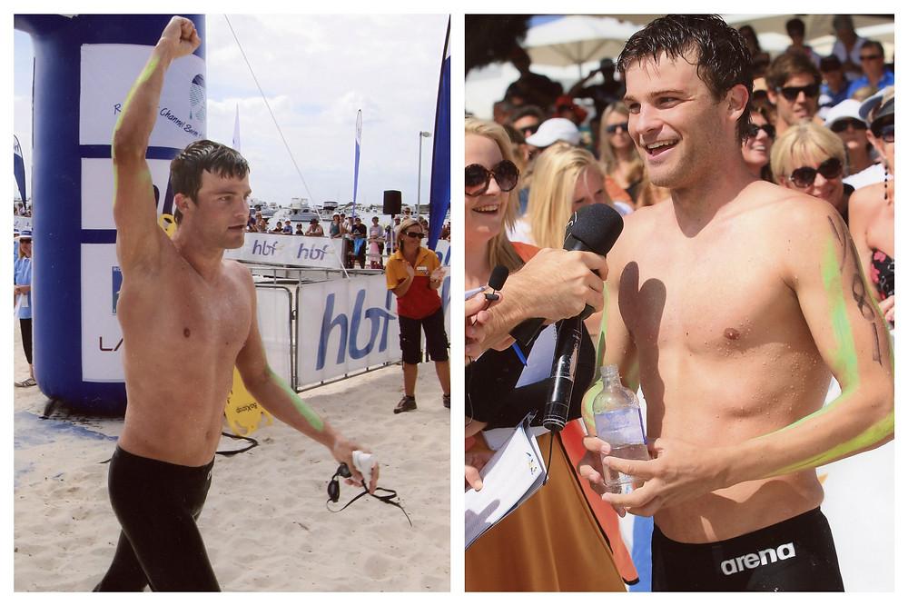 Jarrad Lawford Rottnest Channel Swim 2012 Winner