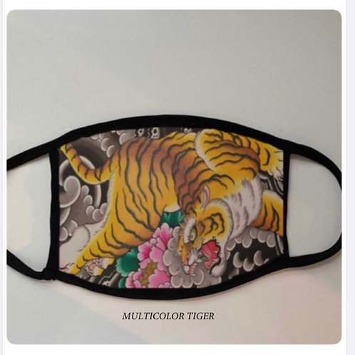 Reusable Masks in Multicolor Tiger Print