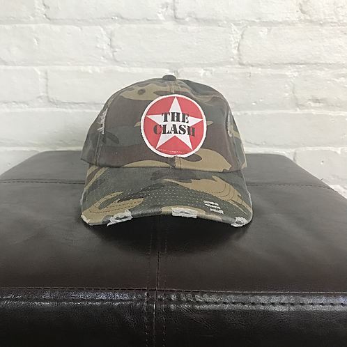 The Clash Distressed Camouflage Hat