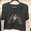 "Thumbnail: Prince Peter Collection ""Rainbow Strike"" Crop Tee in Distressed Black"