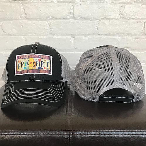 Free Spirit Black and Grey Trucker Hat
