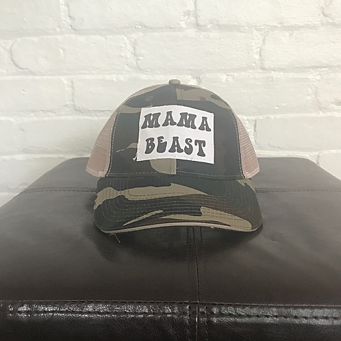 Mama Beast Camouflage Trucker Hat