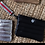Thumbnail: Secret Stash Mini Wristlet in Chelsea Black w/Red Stripe Strap