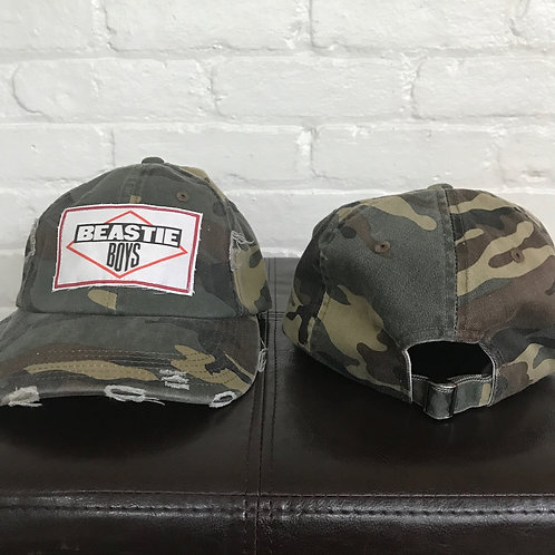 Beastie Boys Distressed Camouflage Hat