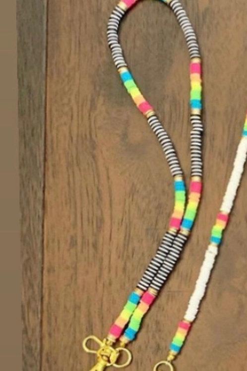 Kids' Custom Beaded  Mask Holder in Multicolored Beads