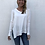 Thumbnail: Asymmetric V Neck Jersey Shirt In White