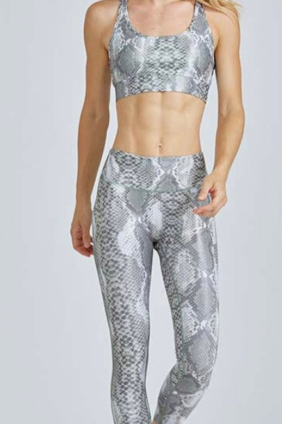 PrismSport High Waist Barre 7/8 Legging in Shimmer Python