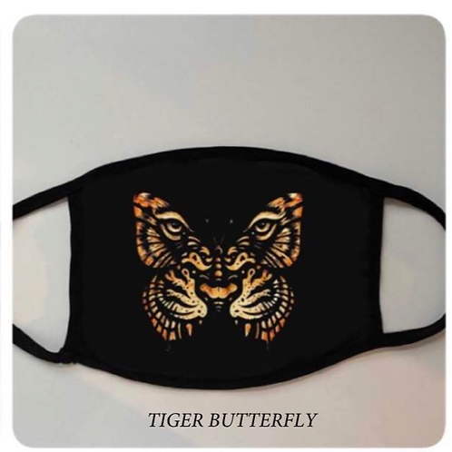Reusable Masks in Tie Dye in Tiger Butterfly