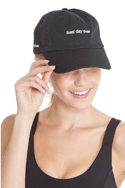 good HYOUman BEST DAY EVER Baseball Hat In Black