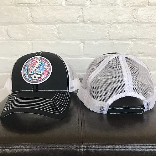 Grateful Dead Black and White Trucker Hat