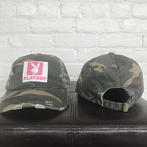 Playboy Distressed Camo Hat