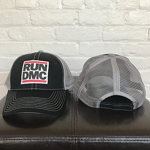 RUN DMC Black and Grey Trucker Hat