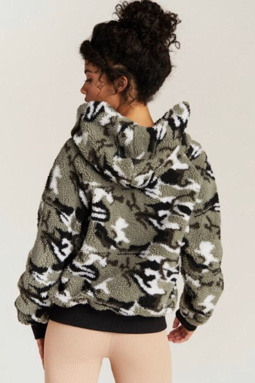 Strut This Abby Jacket in Camo Sherpa