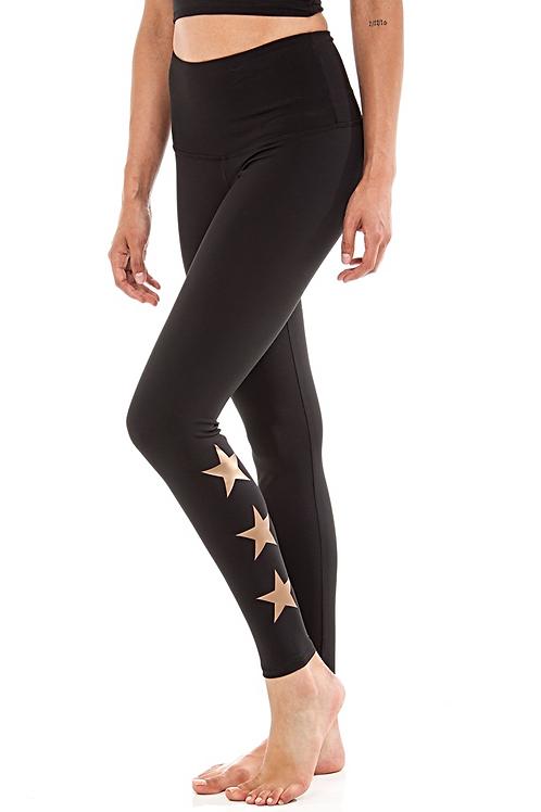 Teagan High Rise Legging in Copper Stars