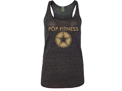 Pop Fitness Logo Tank - Gold