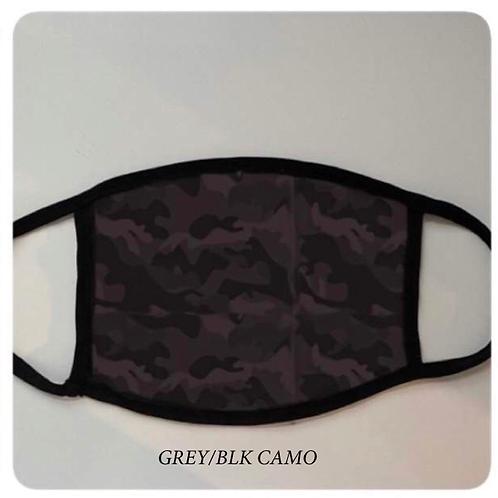 *PRE-ORDER* Reusable Masks in Grey/Black Camo